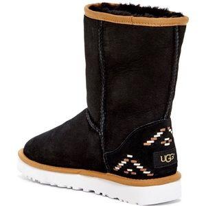 UGG Australia classic boot weave rustic size 6 new